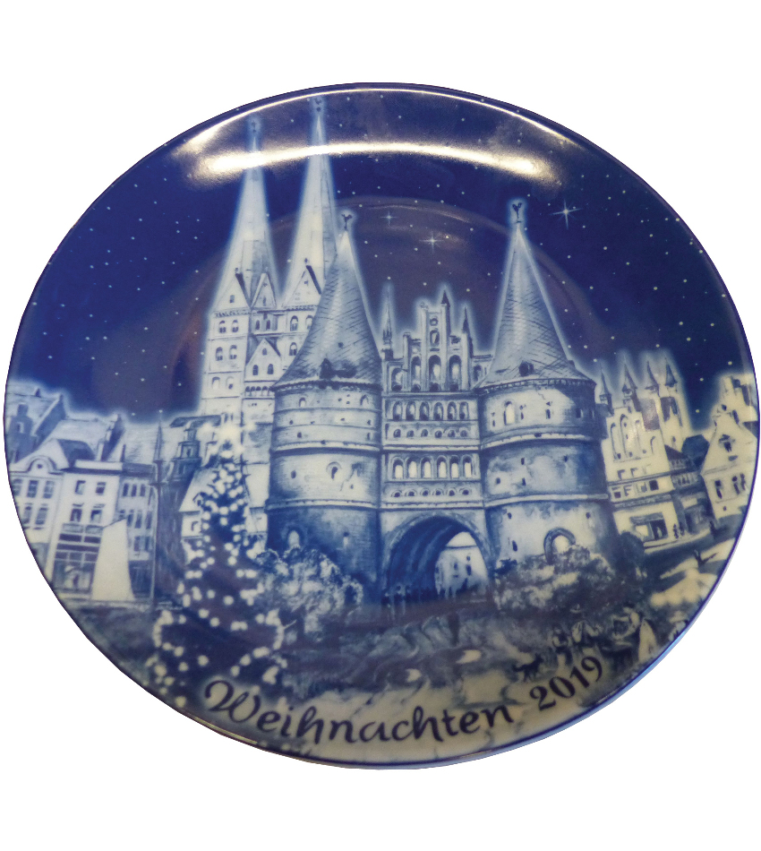 2019BDXPG - 2019 Berlin Design Christmas Plate - german