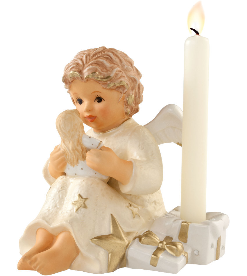 828126 - Angel with Doll Candle Holder