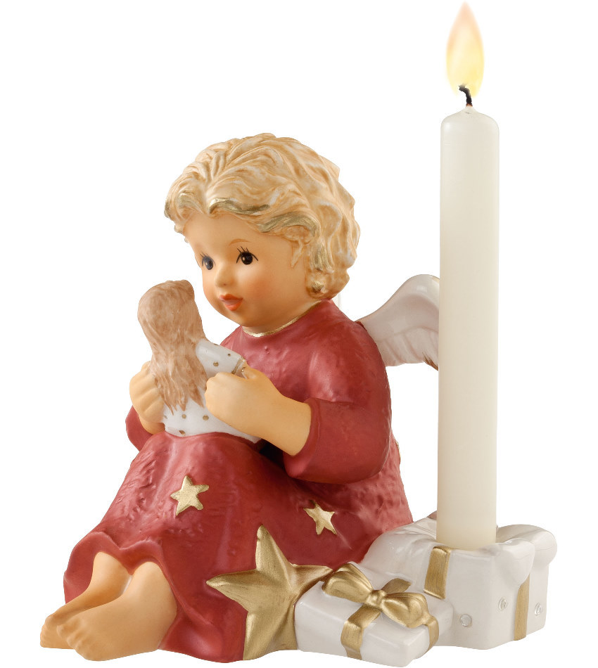 828138 - Angel with Doll Candle Holder