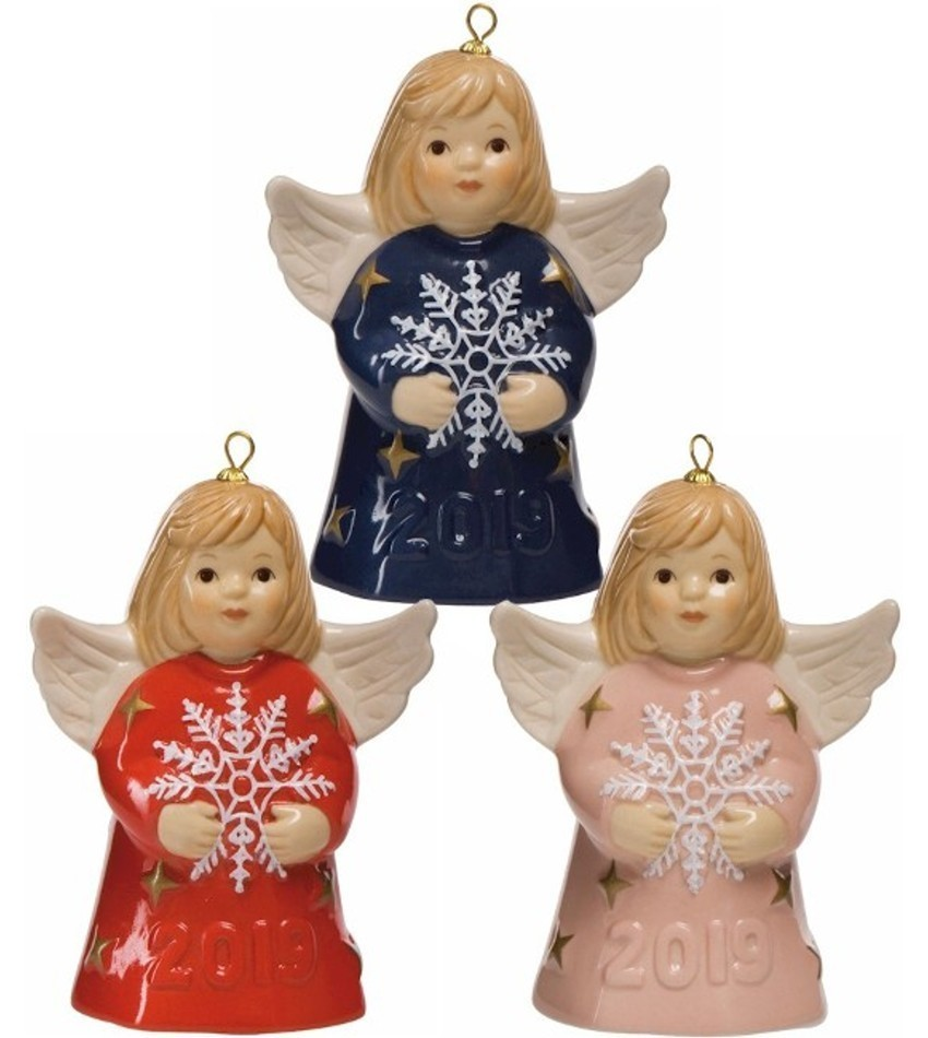 G114400 - 2019 Goebel Annual angel Bell, colored - set of 3