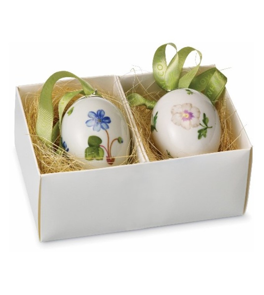 RC249475 - Hepatica & Pansy Egg Ornaments