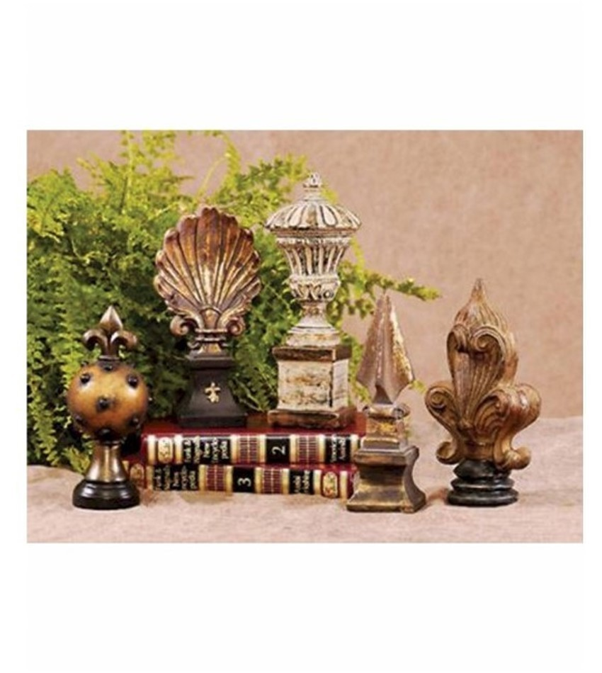STI4-73ABCDE - Library Finials - Set of 5